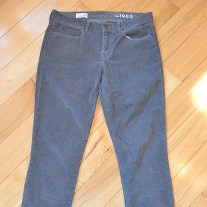 Gap 29 legging jean corduroy pants gray cords
